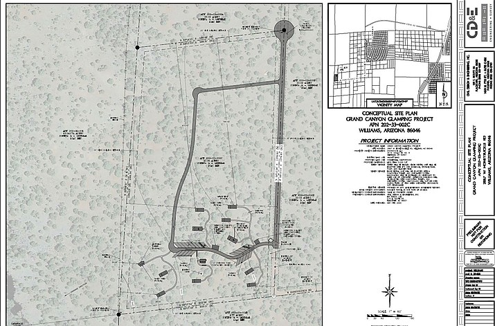 A glamping business has been issue a conditional use permit for the Espee-Red Lake area of Williams (Graphic/Coconino County)