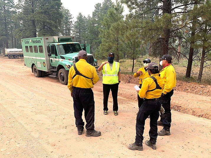 The lightning caused Wood Springs 2 Fire was 42 percent contained July 5. (Photo/Office of the President)