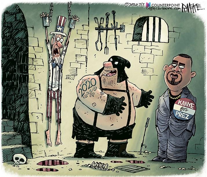 Editorial cartoon (2): July 9, 2020