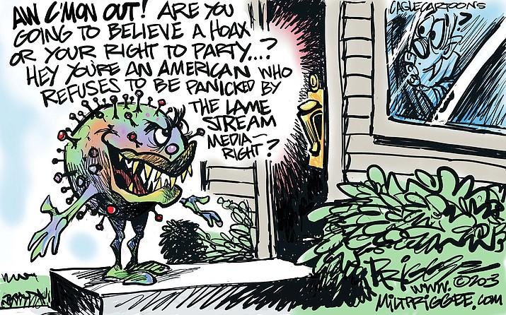 Editorial cartoon (2): July 10, 2020