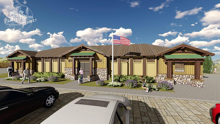 Artist's rendering of the proposed Pronghorn Ranch Clunhouse. (Distinctive homes)