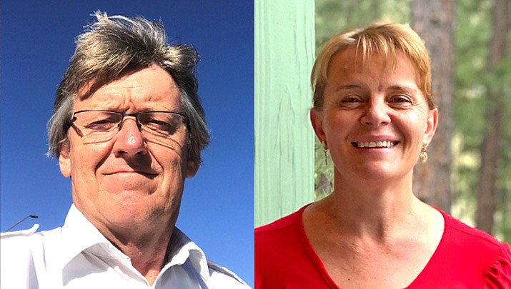 Craig Sanderson and Clarinda Vail are running for mayor of Tusayan. The primary election takes place Aug. 4. Early voting for the primary election started July 8. (Submitted photos)
