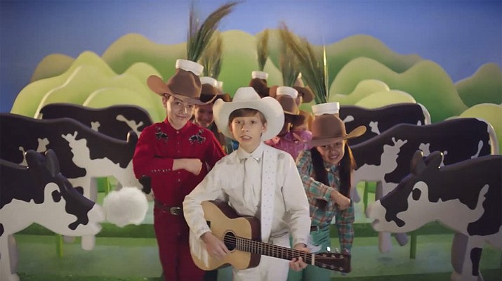 This image provided by Burger King shows a video by Burger King addressing greenhouse gas emissions. Burger King is announcing its work to help address a core industry challenge: the environmental impact of beef. To help tackle this environmental issue, the Burger King brand partnered with top scientists to develop and test a new diet for cows, which according to initial study results, on average reduces up to 33% of cows' daily methane emissions. (Burger King via AP)