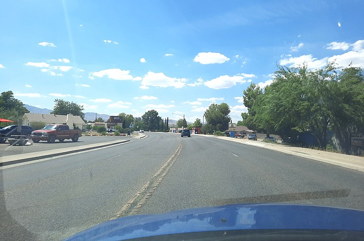 """This portion of North Main Street in Cottonwood is set to be narrowed to two lanes as part of the city's """"Main Street Road Diet."""" Work on the project is set to begin Monday, July 20. VVN/Jason W. Brooks"""