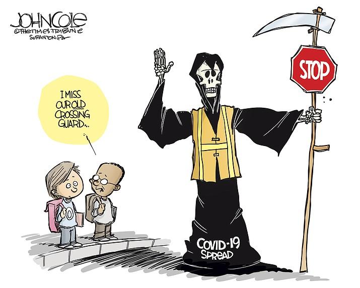 Editorial cartoon (2): July 18, 2020