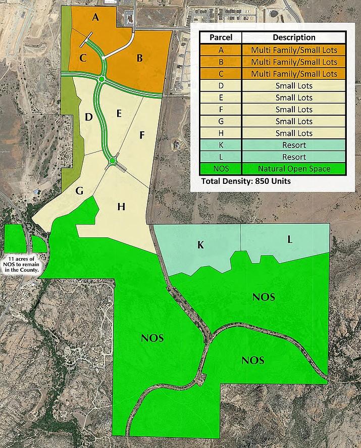 A revised annexation map for the Granite Dells area in Prescott. (City of Prescott/Courtesy)