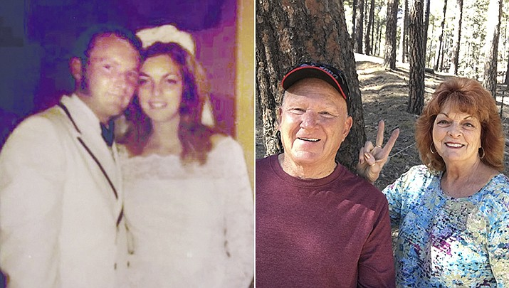 Barry and Kathy (Orban) Smith were married Aug. 1, 1970, pictured then and now. (Courtesy)