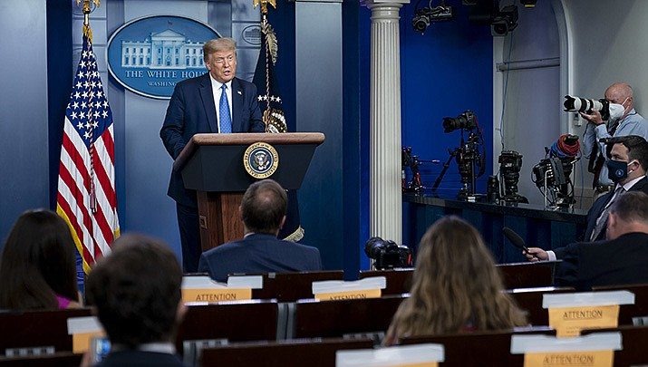U.S. President Donald Trump, shown above during a press briefing on Wednesday, July 22, 2020, has moved to allow imported drugs to reduce the cost of prescription medication for Americans. (Official White House photo/Public domain)