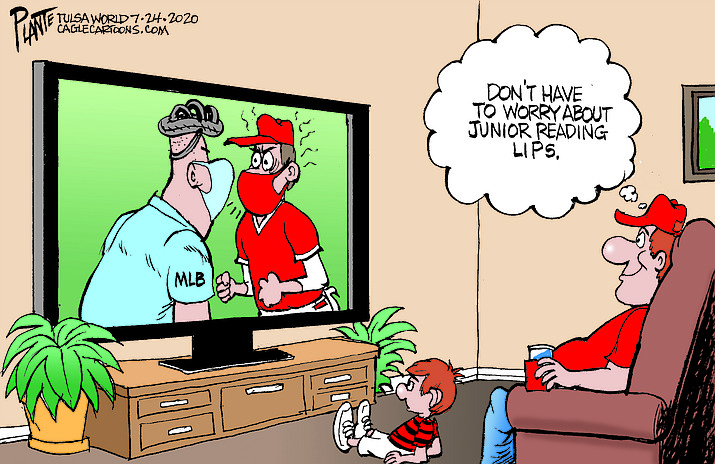 Editorial cartoon (1): July 27, 2020