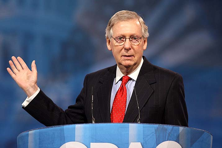 The U.S. Senate, led by Sen. Mitch McConnell (R-Kentucky), is expected to vote on a $1 trillion coronavirus relief plan to be introduced Monday, July 27. (Office of Mitch McConnell photo/Public domain)