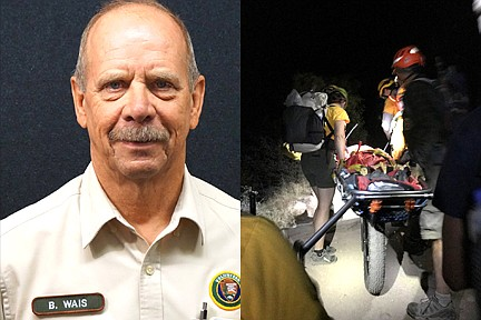 Grand Canyon National Park recognized Bob Wais, a volunteer member of the Grand Canyon National Park Preventive Search and Rescue team July 26 for his efforts helping visitors on the Bright Angel Trail. (Photos/Grand Canyon National Park)