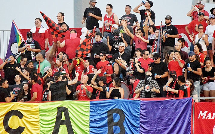Phoenix Rising FC fans will not be able to attend the team's next three home games because of coronavirus concerns. (Josh Martinez/Cronkite News)