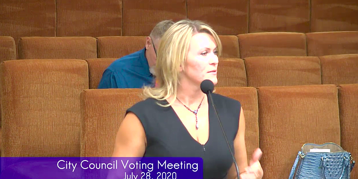 Yavapai County Health Services Director Leslie Horton. (Screenshot from City of Prescott council meeting)