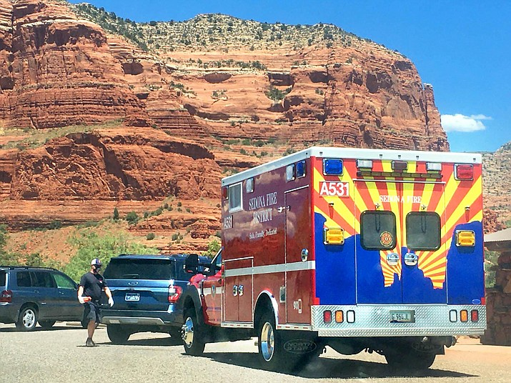 Many hikers seemed to be taking the Sedona battalion chief's advice as the Courthouse Butte parking lot was mostly empty at noon Wednesday. VVN/Vyto Starinskas
