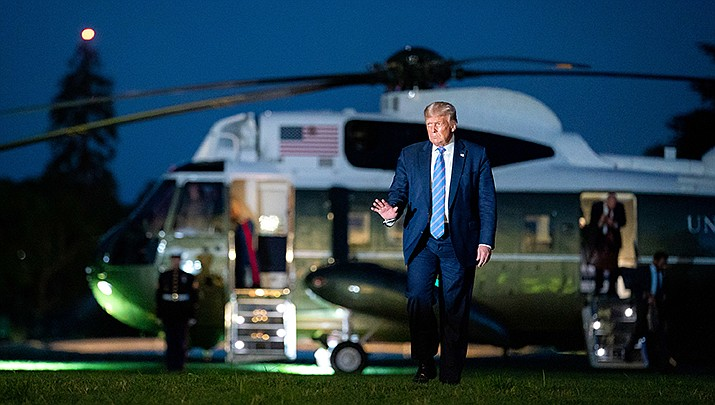 U.S. President Donald Trump returns to the White House from a trip to Texas on Wednesday, July 29. Trump is suggesting that Election Day be delayed until Americans can safely vote. (Official White House photo/Public domain)