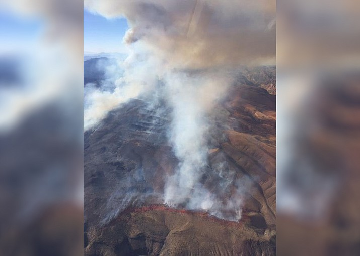 The Bishop Fire has burned over 14,000 acres in southeast Nevada. (Photo/Inciweb)