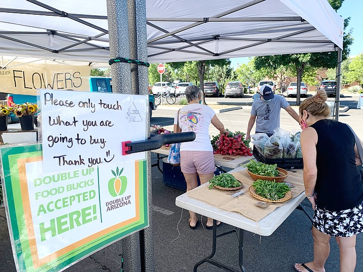 Prescott Farmers Market will celebrate National Farmers Market Week this week with safety measures to prevent the spread of coronavirus. Shoppers are strongly urged to wear masks. (Prescott Farmers Market/Courtesy)