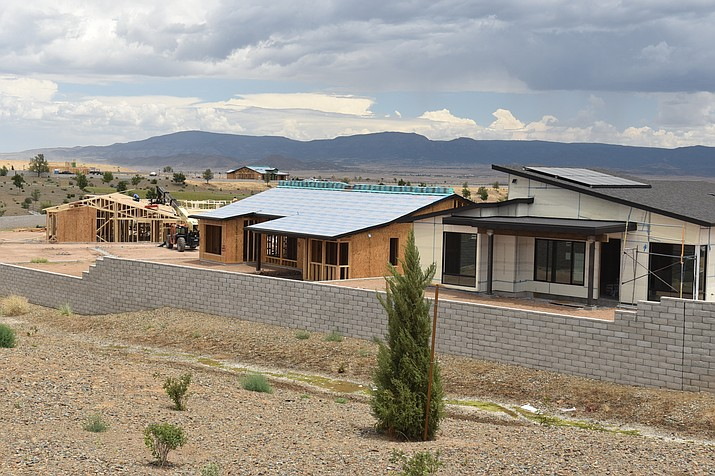 Homes being built in the Jasper subdivision of Prescott Valley on July 22, 2020. (Jesse Bertel/Courier, file)