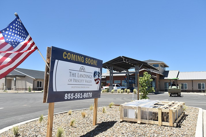 The Landings of Prescott Valley, a new 106-unit complex will house an assisted-living wing and a smaller secured assisted-living quarters designed for those with dementia and other brain disorders, is mostly finished. (Jesse Bertel/Courier)