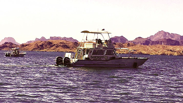 Two men were killed when two boats collided at the mouth of the Colorado River at Lake Havasu on Friday, July 31. Mohave County Sheriff's Office patrol boats are shown above. (Mohave County Sheriff's Office file photo)