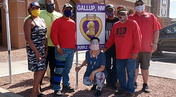 Navajo Hopi Honor Rider unites with military friends to fight COVID-19 photo