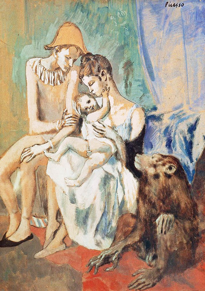 """Family of acrobats with monkey"" is a 1906 painting by Pablo Picasso. With the Mary D. Fisher Theatre temporarily closed, the Sedona International Film Festival presents The Art Series, part of its new ""MDF@Home"" program. The festival, this week, will feature the encore of the award-winning ""Young Picasso."""