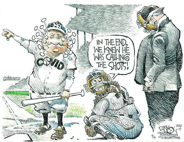 Editorial cartoon (2): Aug. 5, 2020