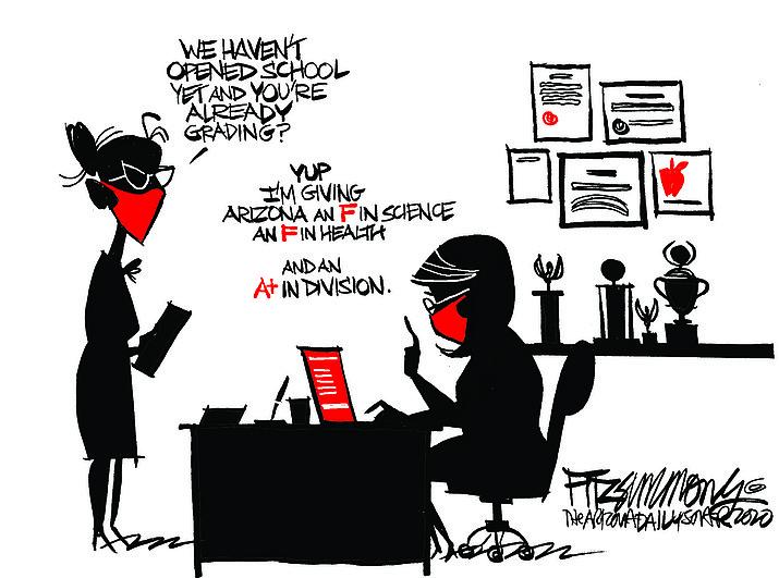 Editorial cartoon (1): Aug. 6, 2020