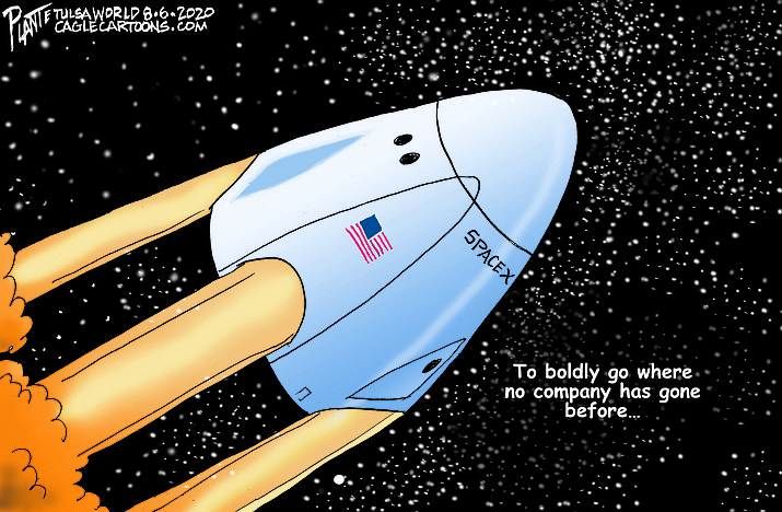 Editorial cartoon (2): August 8, 2020