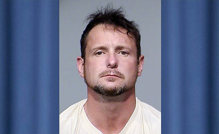 James Edward Stewart, 42, of Cottonwood, was arrested on felony drug charges after being found Friday evening in possession of more than 50 grams of methamphetamine. VVN Courtesy of Cottonwood Police Department