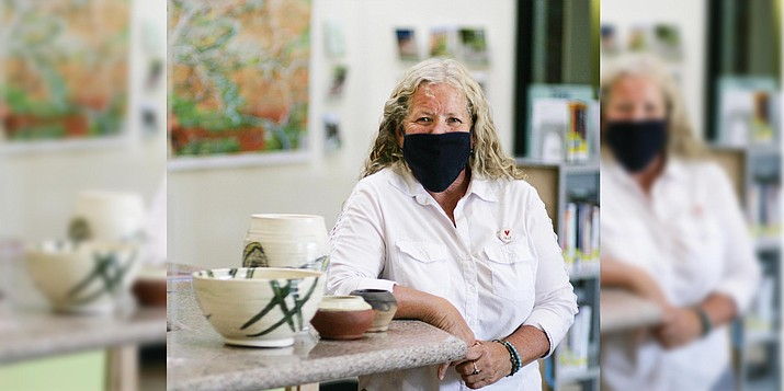 'Pandemic Projects,' an exhibit of Mary Lue Allen's pottery, is on display at the Camp Verde Community Library through Oct. 31. VVN/Bill Helm