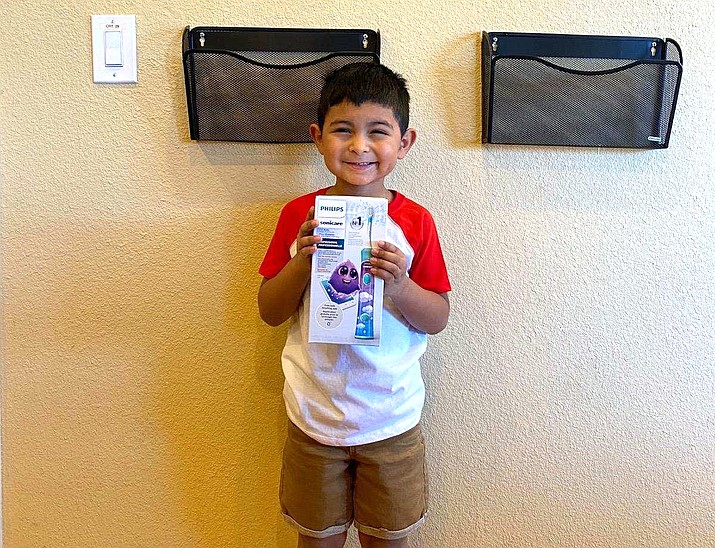Noah Canedo, 5, is the No Cavity Club winner at Timberline Dental in Williams for the months of Jan-June, 2020. Noah received a Sonicare toothbrush for his prize. The next winner will be drawn Jan. 1, 2021.