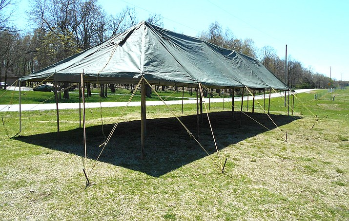 Cottonwood-Oak Creek School Superintendent Steve King has purchased 12 military-grade tents as supplemental outdoor classrooms. Photo courtesy COC School District