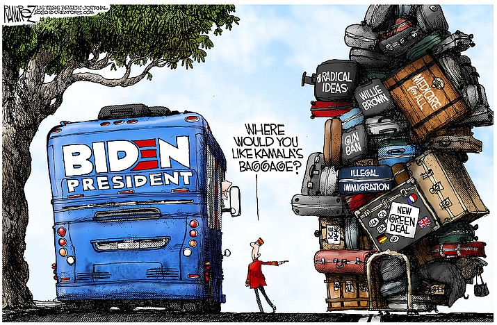 Editorial cartoon (1): Aug. 13, 2020