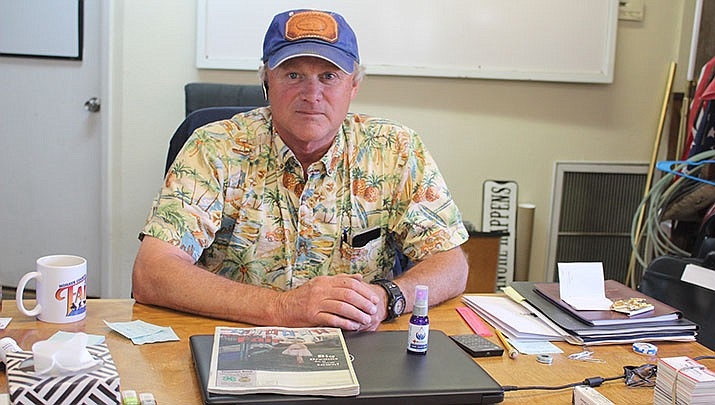 The 2020 Mohave County Fair has been canceled due to coronavirus concerns. Fairgrounds Manager Tim Woods is shown. (Photo by Agata Popeda/Kingman Miner)