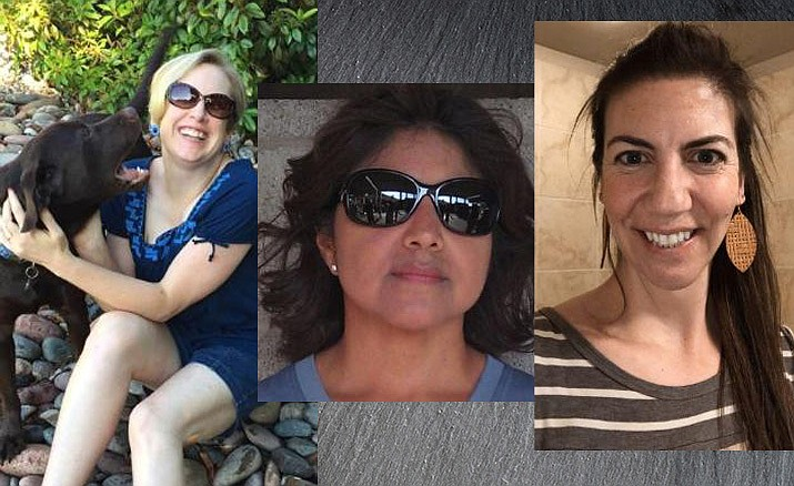 Shown from left are Poppy Keegan, Certified Employee of the Month; Patricia Burgess, Classified Employee of the Month and Nancy Ruiz, Volunteer of the Moneth. (HUSD/Courtesy)