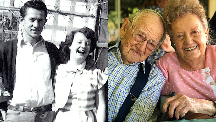 Murry and Betty Williams were married August 18, 1950, in Prescott. (Courtesy)