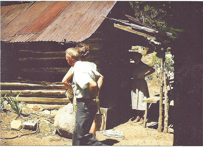 An old log cabin related to the Walker Party. (Dewey Born and Mike Spencer/Courtesy)