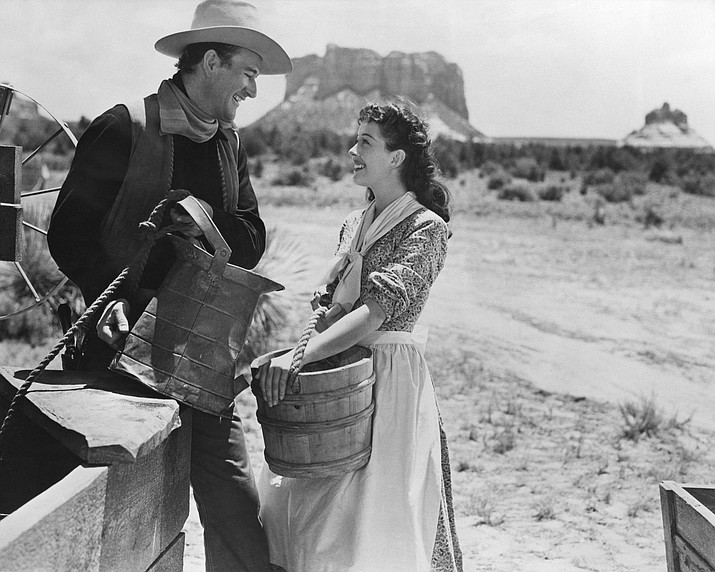"""One of the images featured in new online collection:John Wayne's decision to produce his """"Angel and the Badman"""" film in Sedona solidified the town's place in movie-making history."""