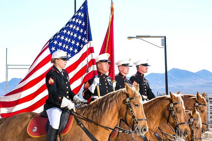 The U.S. Marine Corps Mounted Color Guard will participate in the Sept. 12 Patriot Day Parade in Williams. Entries are currently being accepted for the parade. (Photo/USMC)