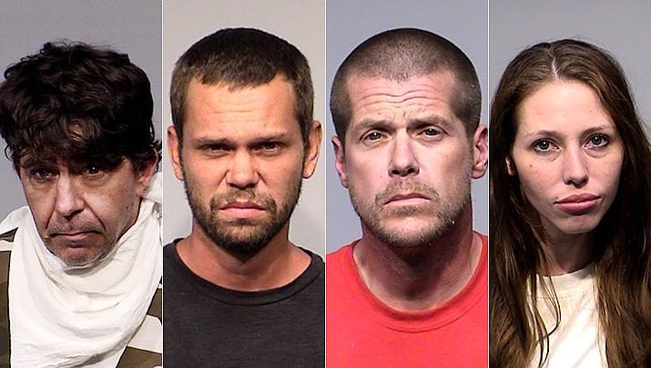 From left Joel Deems, Nicholas Dubuque, Jason Stone, Moriah Calhoun. (YCSO)