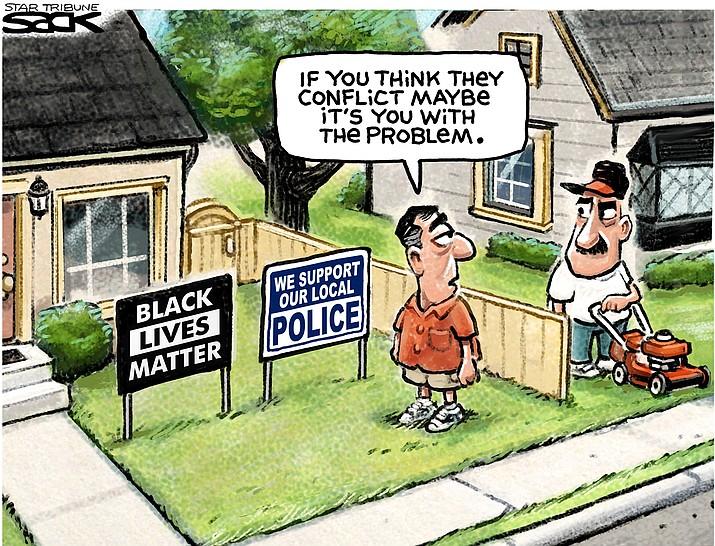 Editorial cartoon (2): Aug. 21, 2020