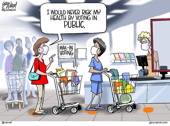 Editorial cartoon (1): August 22, 2020