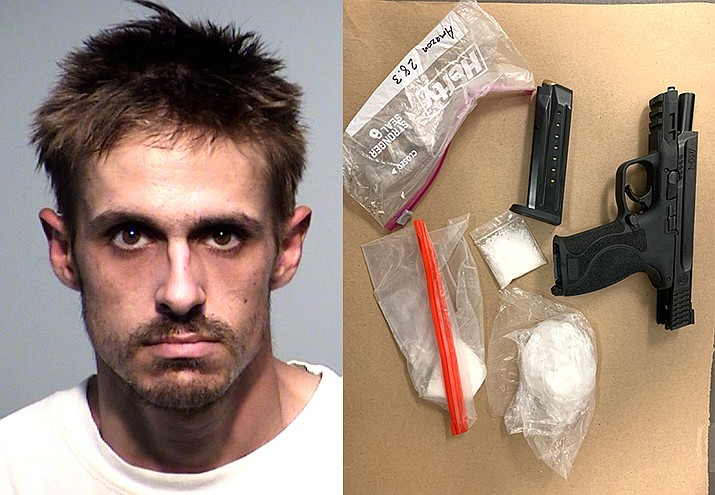 Zane Scott was booked into the Yavapai County Detention Center for possession of dangerous and narcotic drugs for sale, possession of a weapon during a drug offense and possession of drug paraphernalia. Scott remains in custody on a $50,000 bond. Cottonwood PD courtesy photos