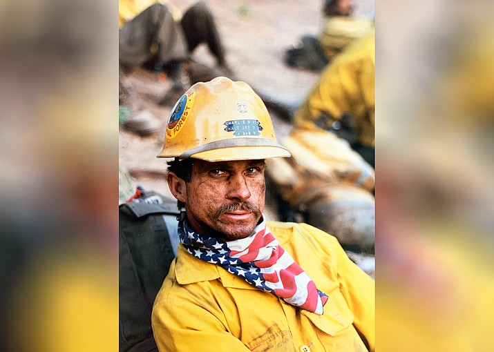 Charlie Nixon takes a break while working on a 20-man handcrew with the U.S. Forest Service on the Kaibab National Forest. Nixon retired from U.S. Forest Service after more than 30 years of service. (Photos/Charlie Nixon)