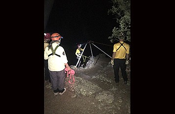 Coconino County Sheriff's Office recovered the body of hiker who fell at Sycamore Falls Aug. 17. (Photo/CCSO)