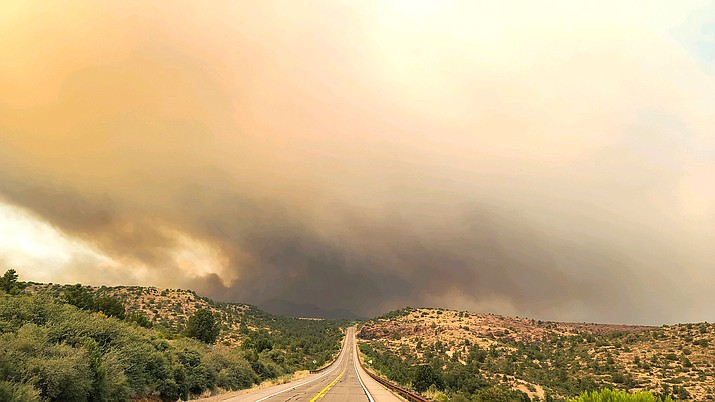 The Salt, Gin and Griffin Fires are burning near Globe Aug. 25. (Photo/Inciweb)
