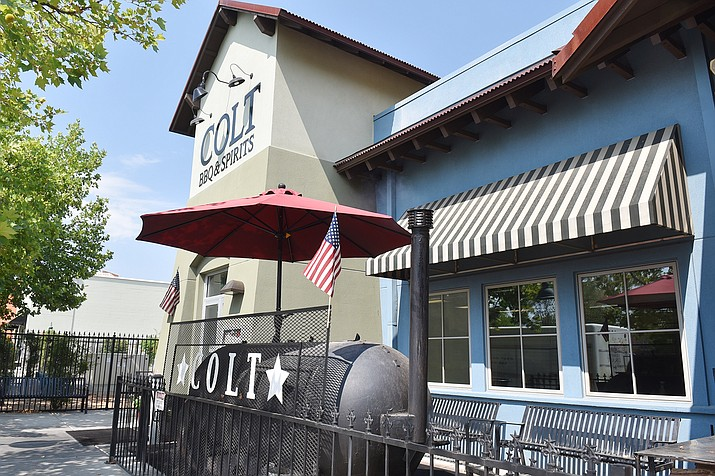 Colt Grill BBQ & Spirits, 2970 N. Park Ave, Prescott Valley, has received its Series 18 liquor license to start a craft-liquor distillery. (Jesse Bertel/Courier)