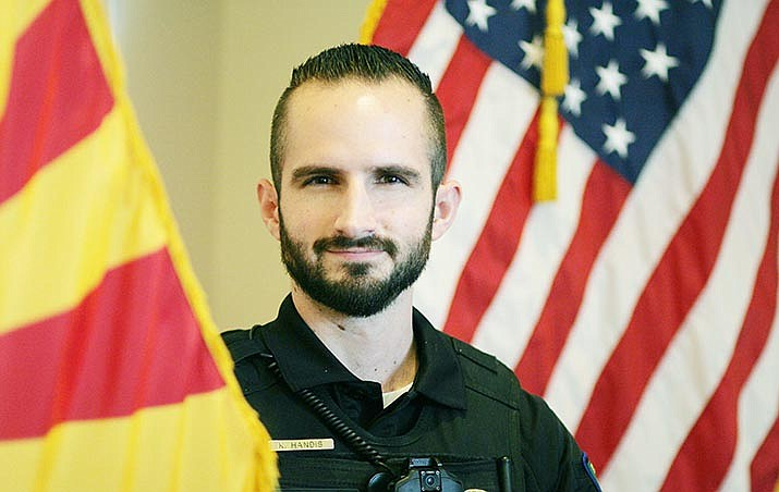 Kyle Handis, a 2012 graduate of Camp Verde High School, is the Marshal's Office's new school resource officer. VVN/Bill Helm