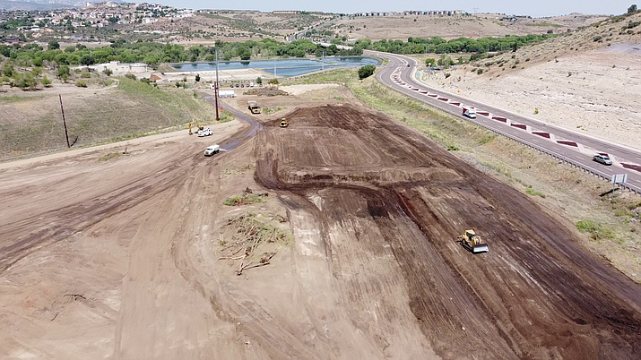 Dirt work began this past week at the site of the new Prescott jail. The board approved the $4.4 million, mass grading contract on Aug. 5, 2020, for the site located along Prescott Lakes Parkway. (Yavapai County drone footage/Courtesy)